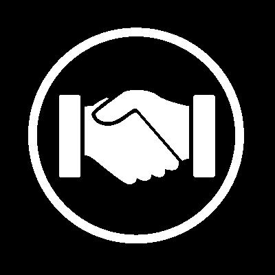 white-circle-handshake-icon