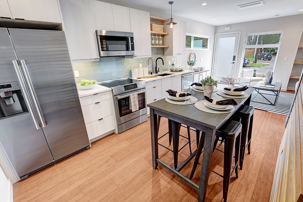 interior photo kitchen and dining