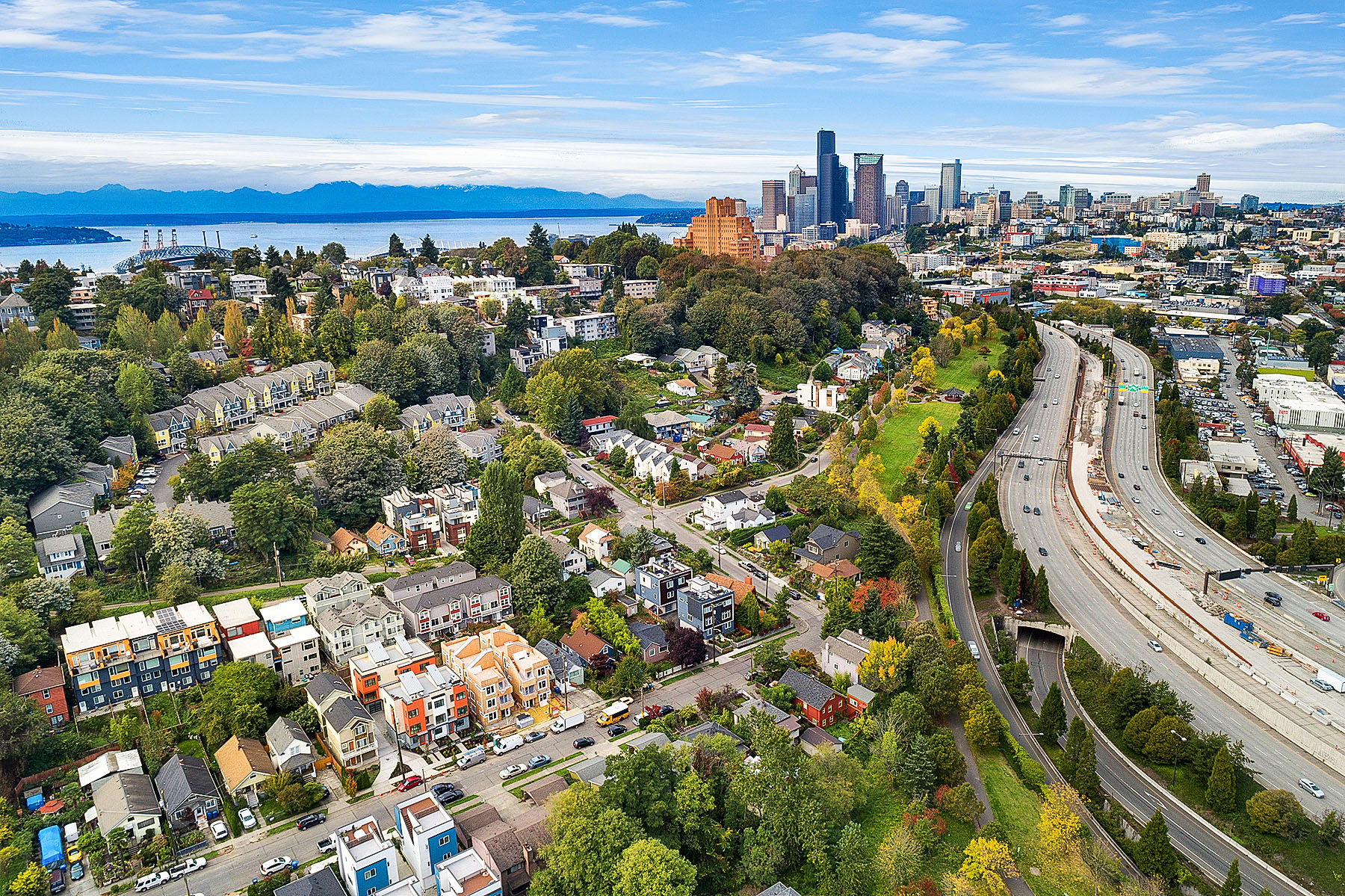 aerial photo seattle