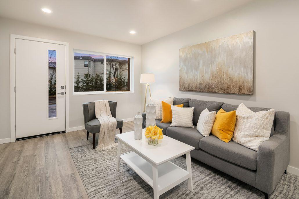 Interior photo of living area