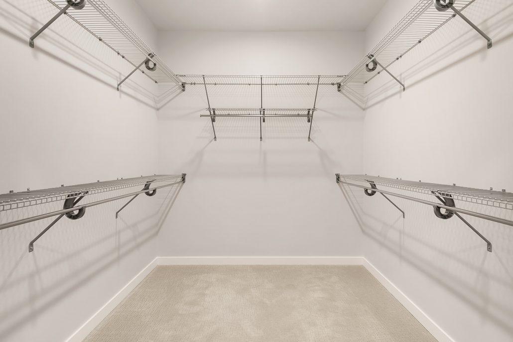 interior photo of master closet