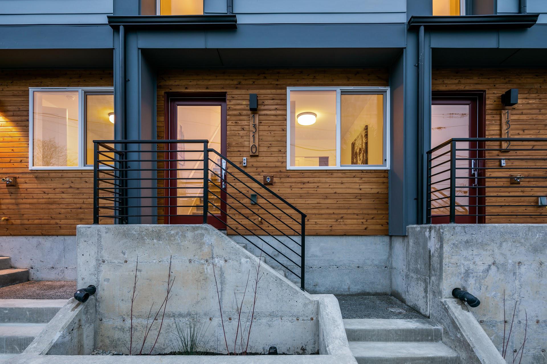 exterior photo of row house
