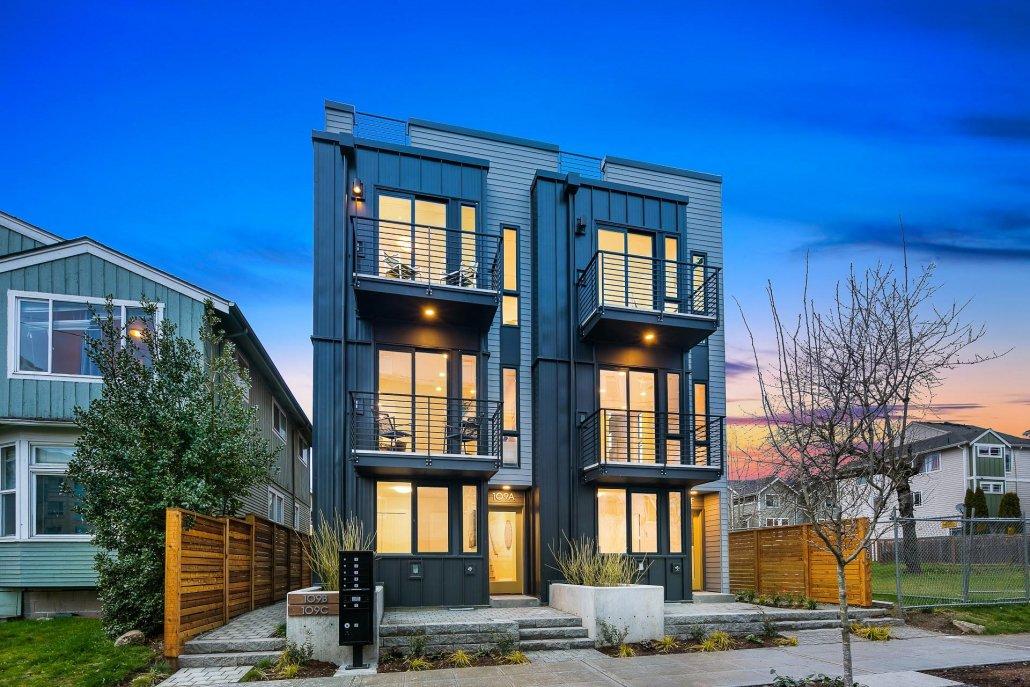 exterior photo of front of development