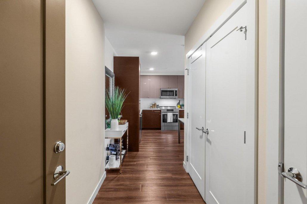 interior photo of upstairs hallway